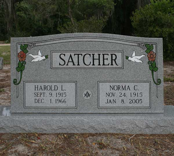 Harold L. & Norma C. Satcher Gravestone Photo