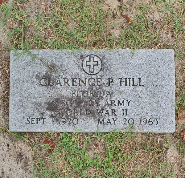 Clarence P. Hill Gravestone Photo