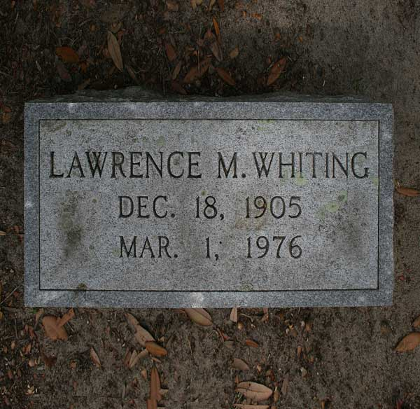 Lawrence M. Whiting Gravestone Photo