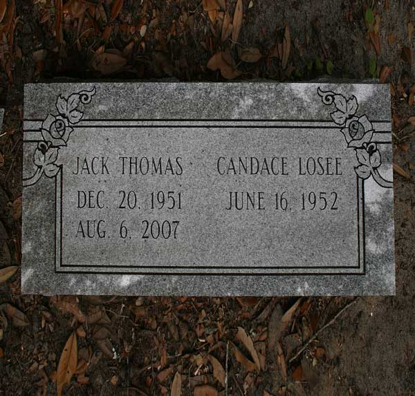 Jack & Candace Losee Thomas Gravestone Photo