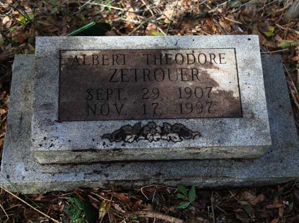 Albert Theodore Zetrouer Gravestone Photo