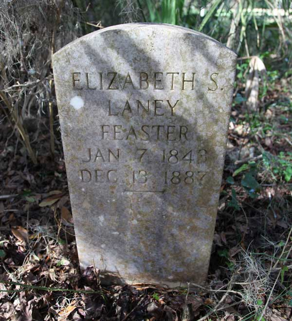 Elizabeth S. Laney Feaster Gravestone Photo