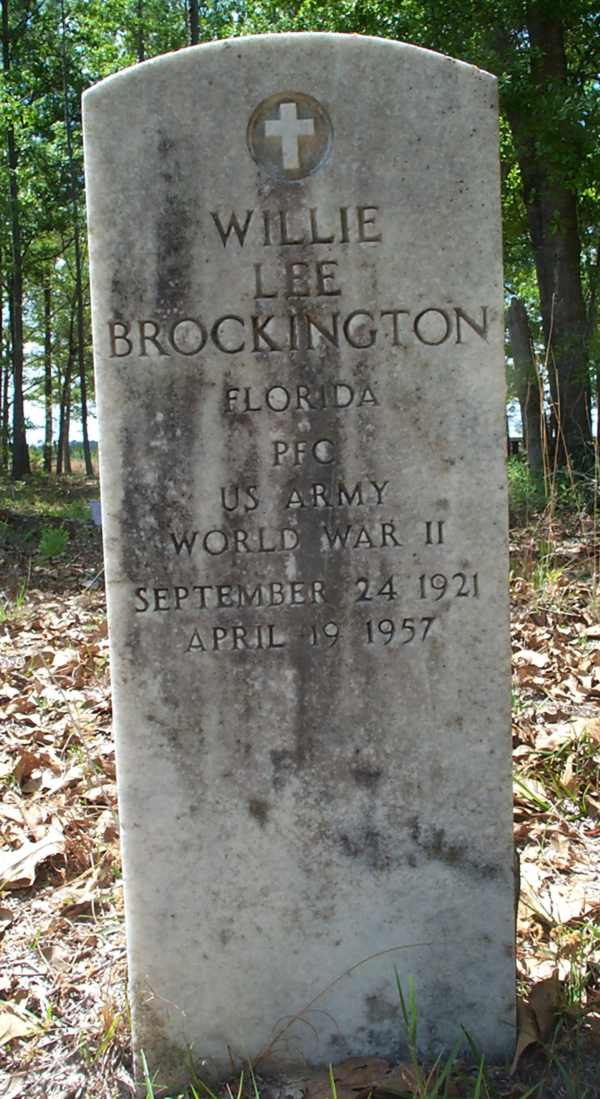 Willie Lee Brockington Gravestone Photo