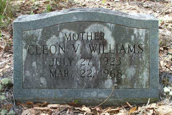 Cleon V. Williams Gravestone Photo