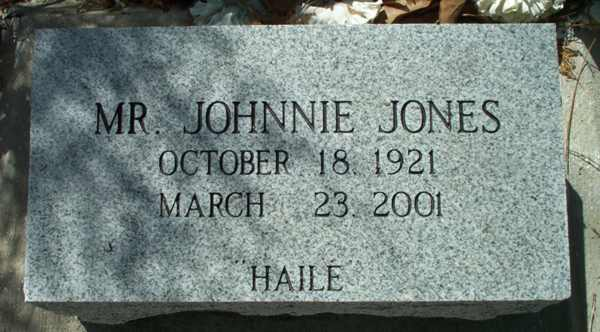 Johnnie Jones Gravestone Photo