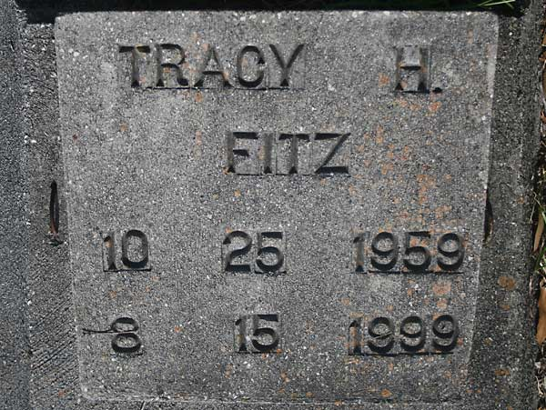 Tracy H. Fitz Gravestone Photo