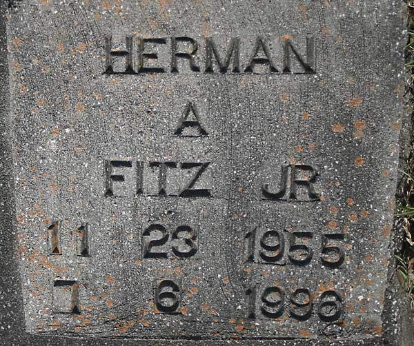 Herman A. Fitz Gravestone Photo