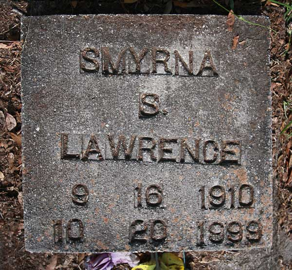 Smyrna S. Lawrence Gravestone Photo