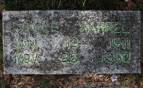 Lucille Harrell Gravestone Photo