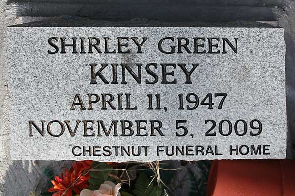 Shirley Green Kinsey Gravestone Photo