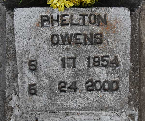 Phelton Owens Gravestone Photo