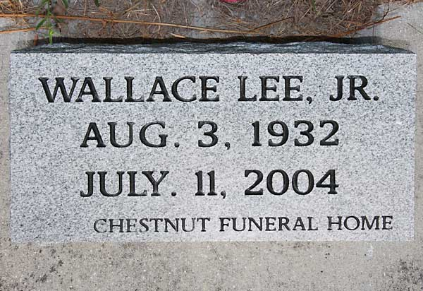Wallace Lee Gravestone Photo