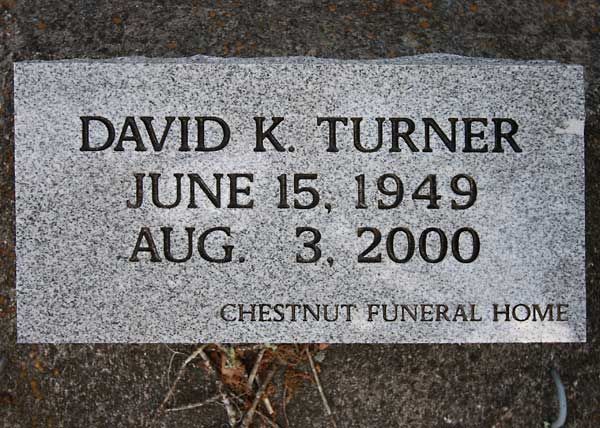 David K. Turner Gravestone Photo