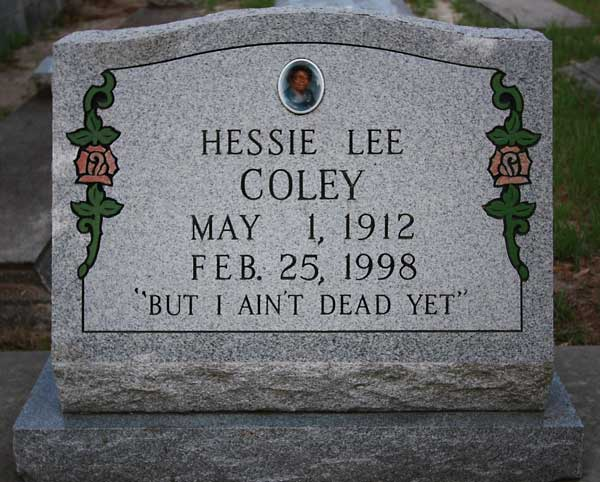 Hessie Lee Coley Gravestone Photo