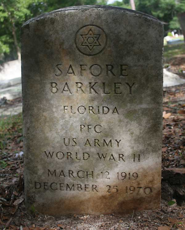 Safore Barkley Gravestone Photo