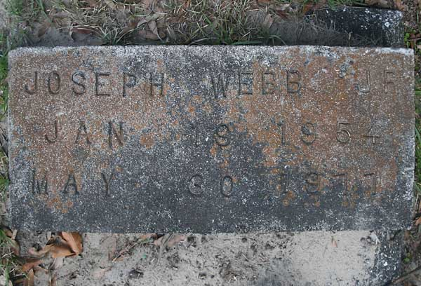 Joseph Webb Gravestone Photo