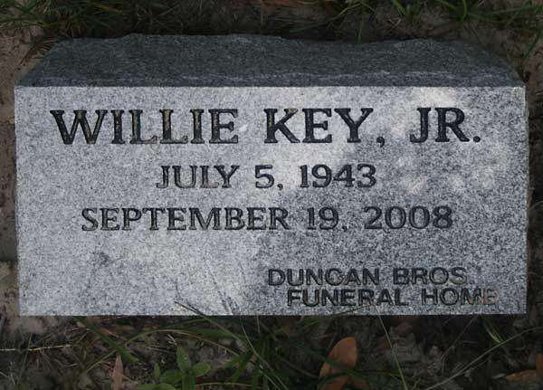Willie Key Gravestone Photo