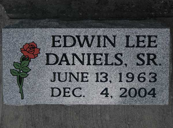Edwin Lee Daniels Gravestone Photo