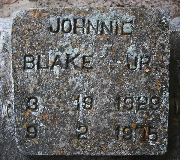 Johnnie Blake Gravestone Photo