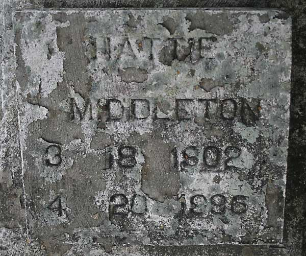 Hattie Middleton Gravestone Photo