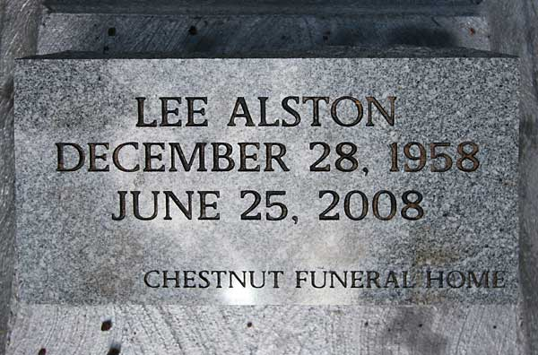 Lee Alston Gravestone Photo