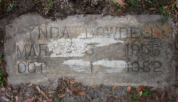 Lynda Dowdell Gravestone Photo