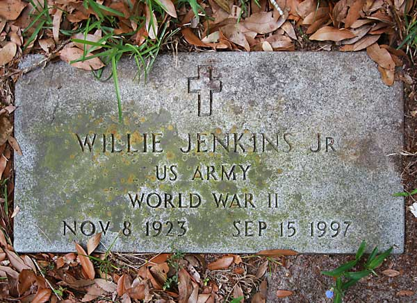 Willie Jenkins Gravestone Photo