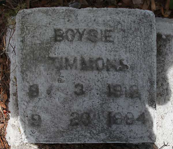 Boysie Timmons Gravestone Photo