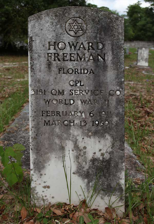 Howard Freeman Gravestone Photo