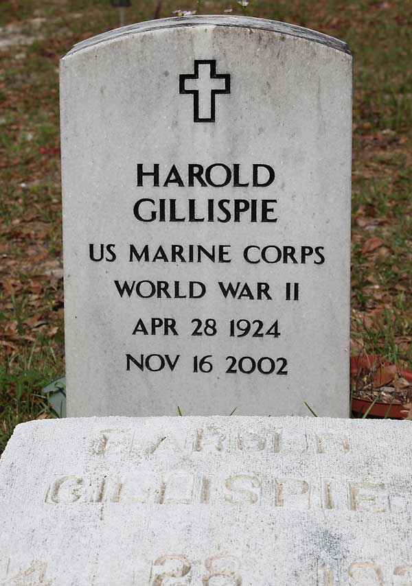 Harold Gillispie Gravestone Photo