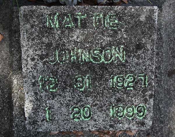 Mattie Johnson Gravestone Photo