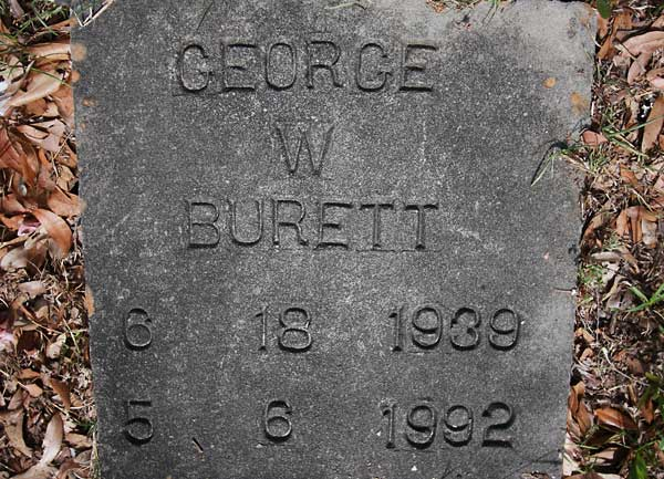 George W. Burett Gravestone Photo