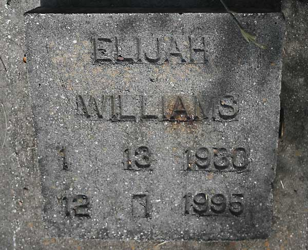 Elijah Williams Gravestone Photo