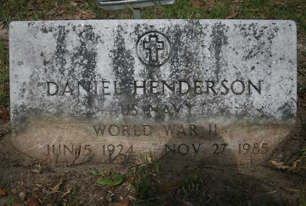 Daniel Henderson Gravestone Photo