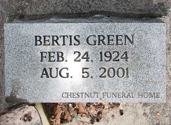 Bertis Green Gravestone Photo