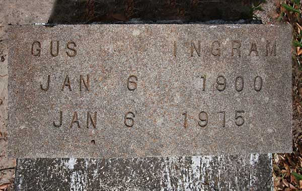 Gus Ingram Gravestone Photo