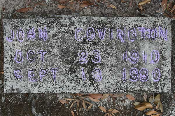 John Covington Gravestone Photo