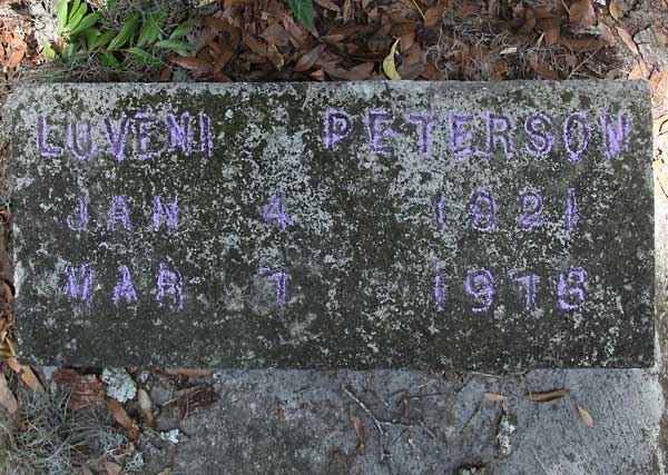Luvenia Peterson Gravestone Photo