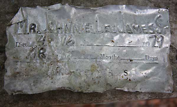 Johnnie Lee James Gravestone Photo