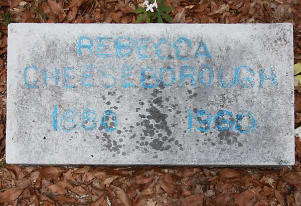 Rebecca Cheeseborough Gravestone Photo