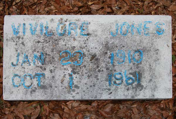Vivilore Jones Gravestone Photo