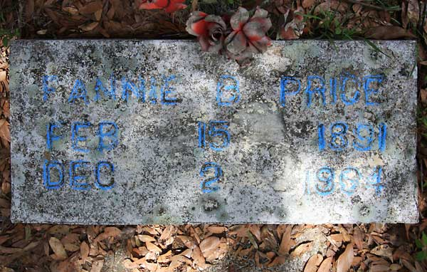 Fannie B. Price Gravestone Photo