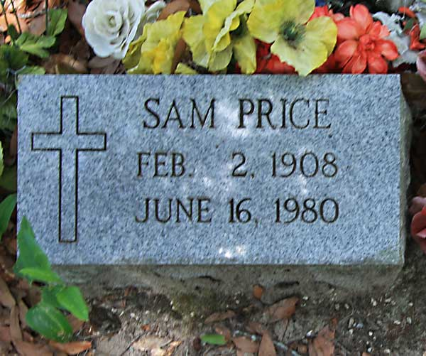 Sam Price Gravestone Photo