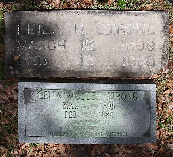 Lelia Mobley Strong Gravestone Photo