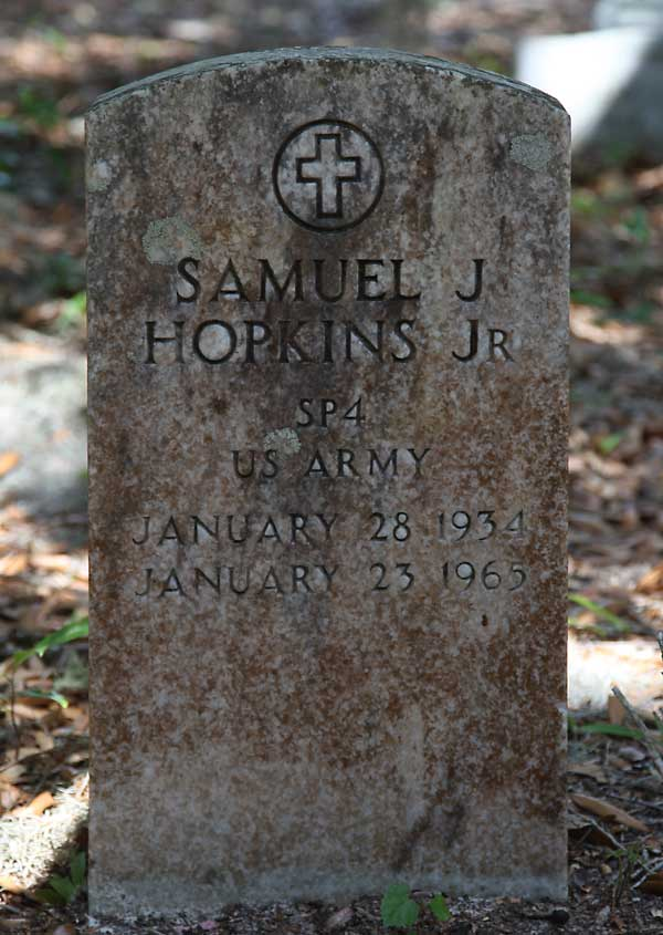 Samuel J. Hopkins Gravestone Photo