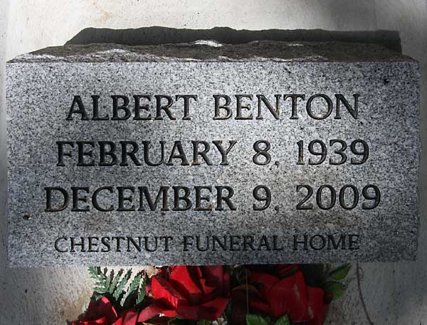 Albert Benton Gravestone Photo