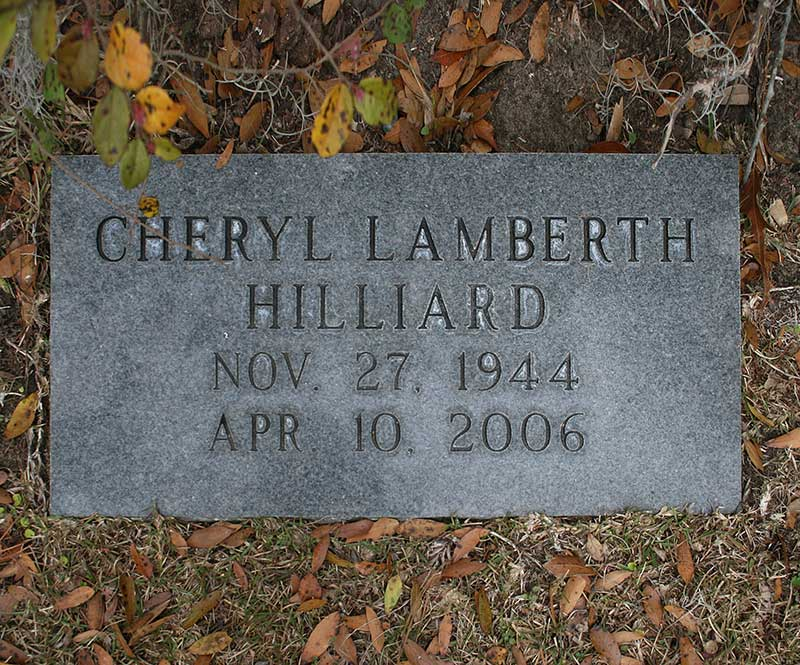 Cheryl Lamberth Hilliard Gravestone Photo