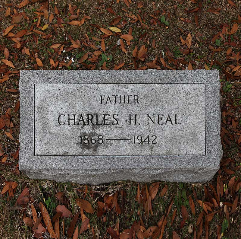 Charles H Neal Gravestone Photo