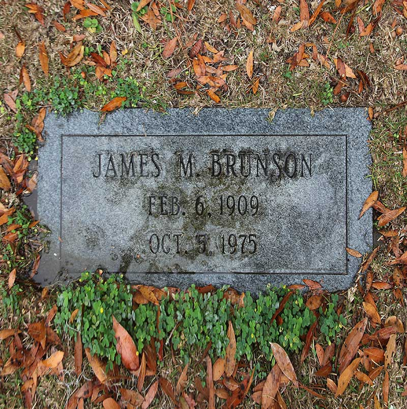 James M Brunson Gravestone Photo