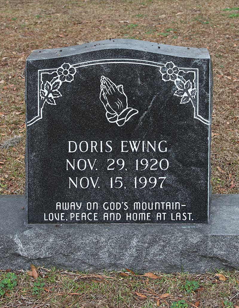 Doris Ewing Gravestone Photo